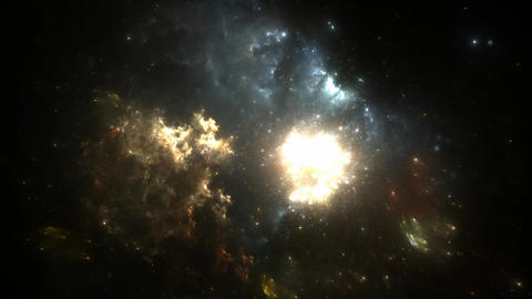 Supernova explosion in the center of the nebula Animation