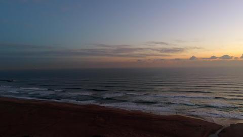 Aerial - Dawn shot at the coastline Footage