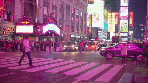 a busy street in times square NYC Image