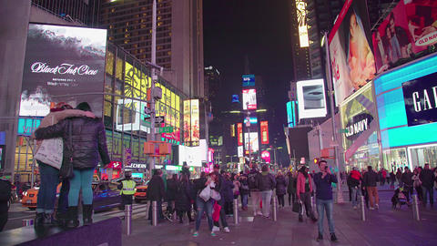 in the center of the street in times square NEW YORK Footage