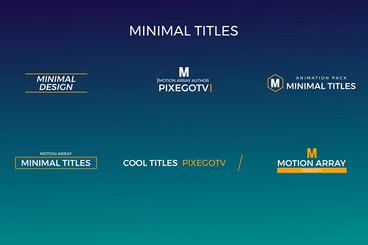 30 Motion Titles Pack After Effects Template