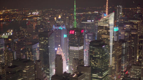 Aerial View, times square, NYC, 4K Footage