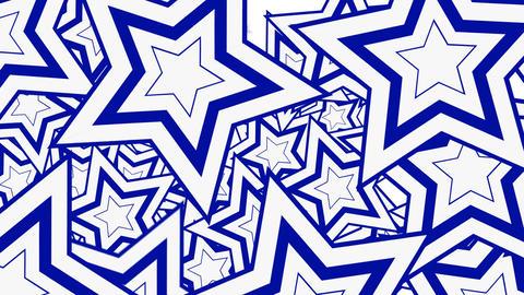 Stars Blue splashing on screen Animation