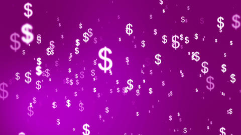 Broadcast Money Shower, Magenta, Corporate, Loopable, HD Animation