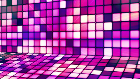 Broadcast Twinkling Hi-Tech Cubes Stage, Purple Magenta, Abstract, Loopable, HD Animation