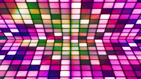 Broadcast Twinkling Hi-Tech Cubes Stage, Multi Color, Abstract, Loopable, HD Animation