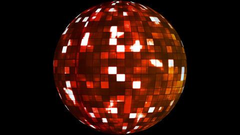 Firey Light Hi-Tech Squares Spinning Globe, Multi Color, Corporate,Alpha,Loop,HD Animation