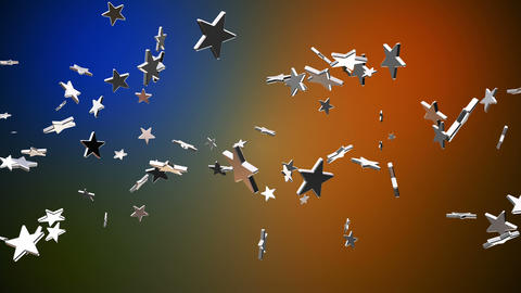 Broadcast Flying Hi-Tech Stars, Multi Color, Events, Loopable, HD Animation