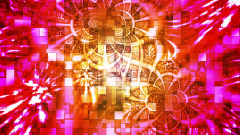 Twinkling Abstract Hi-Tech Light Patterns, Multi Color, Abstract, Loopable, HD Animation