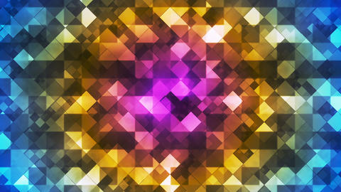 Twinkling Hi-Tech Diamond Light Patterns, Multi Color, Abstract, Loopable, HD Animation