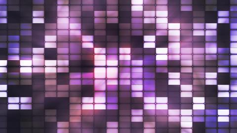 Twinkling Hi-Tech Cubic Smoke Light Patterns, Purple, Abstract, Loopable, HD Animation