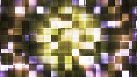 Twinkling Metal Hi-Tech Squared Light Patterns, Multi Color, Abstract, Loop, HD Animation