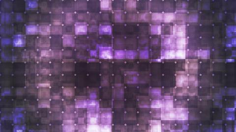 Twinkling Hi-Tech Cubic Diamond Light Patterns, Purple, Abstract, Loopable, HD Animation