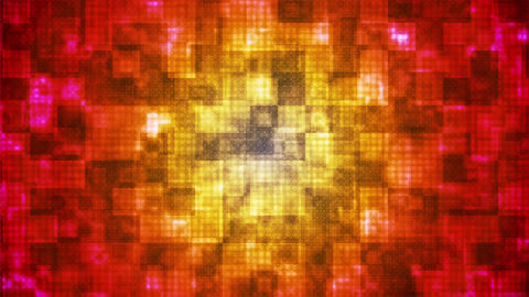 Twinkling Hi-Tech Rounded Diamond Light Patterns, Red Yellow, Abstract, Loop,HD Animation