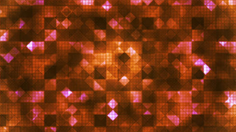 Twinkling Hi-Tech Cubic Diamond Light Patterns, Orange, Abstract, Loopable, HD Animation
