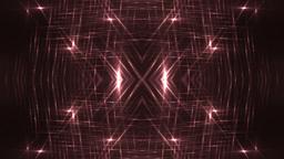 VJ Fractal red kaleidoscopic background Footage