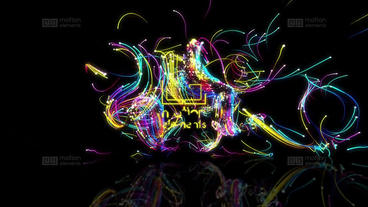 Color Particles logo After Effects Template