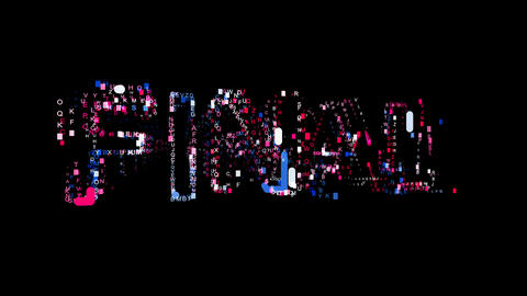 Letters are collected in text FINAL, then scattered into strips. Bright colors Animation