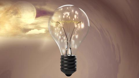 Bulb with magical Light 애니메이션