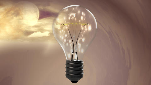 Bulb with magical Light CG動画素材