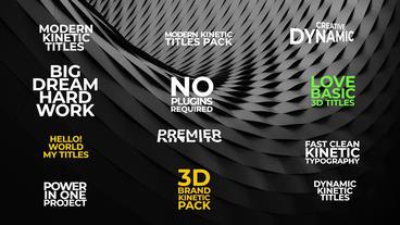 3D Kinetic Titles Premiere Pro Template