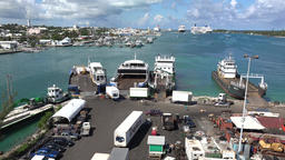 Bahamas New Providence island Nassau ferry terminal and cruise port Footage