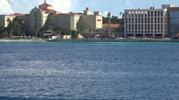 Bahamas Nassau hotels and beach at waterfront seen from a cruise vessel Image