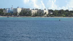 Bahamas Nassau beach resort hotels between trees seen from cruise ship Image