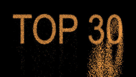 best TOP 30 appears from the sand, then crumbles. Alpha channel Premultiplied - Animation