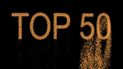 best TOP 50 appears from the sand, then crumbles. Alpha channel Premultiplied - Animation