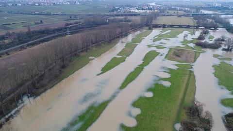 Flooded river banks ビデオ