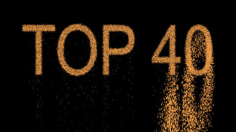 best TOP 40 appears from the sand, then crumbles. Alpha channel Premultiplied - Animation