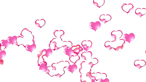 animation hearts with highlights, appear and disappear, form an inscription sale Animation