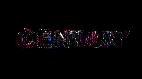 Letters are collected in text CENTURY, then scattered into strips. Bright Animation