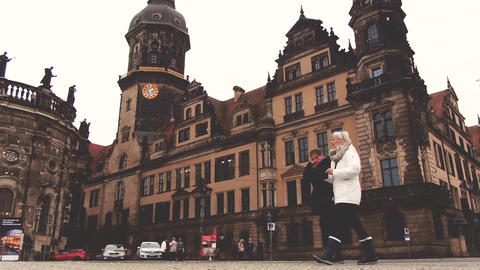 Dresden, Germany - December, 2017: Dresden Castle Residence. Tourist place Footage