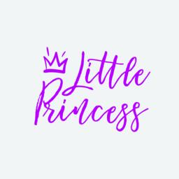 Little princess hand drawn lettering with crown ベクター
