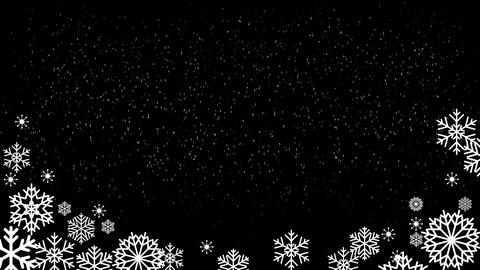 Snowing Fall wBoarder loop Animation