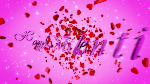 Happy Valentine's Day. Video greeting, congratulation. 3D animation Animation