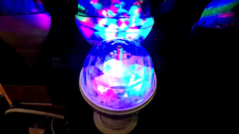 Colorful disco lamp flicker Footage