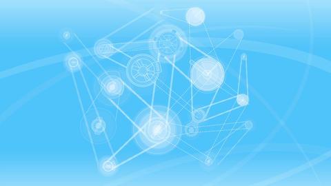 Mechanical blue background Animation