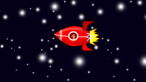 Rocket in Space Animation