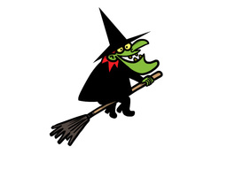 Witch on a broomstick Animation