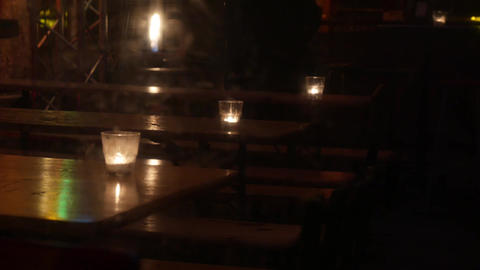 4K Candles in an Old Pub Footage