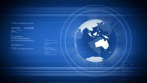 HD Digital world with Globe Animation