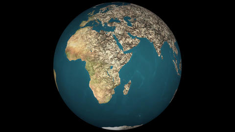 4K Dying Earth Global Warming and Heavy Pollution Affected Dried Lands Animation