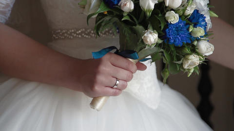 flowers in the bride's hands Footage