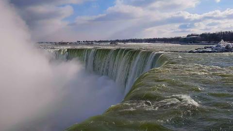 Niagara Falls Waterfalls day view with splashing water Archivo