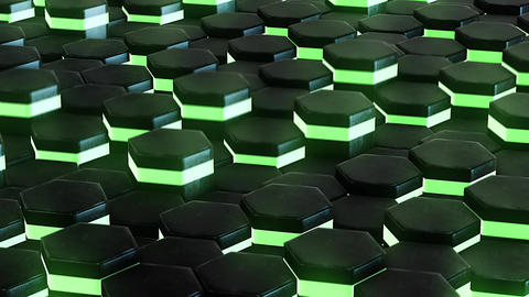 DJ background with animated neon green hexagon Animation