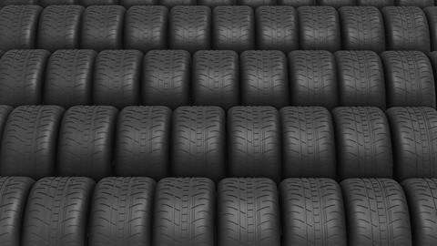 The ranks of automobile tyres Footage