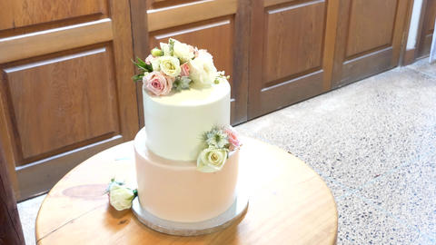Shot of Wedding cake and decoration 画像